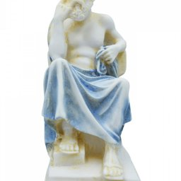 Socrates greek alabaster statue with color 2