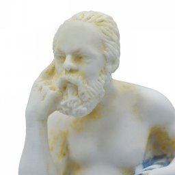 Socrates greek alabaster statue with color 4