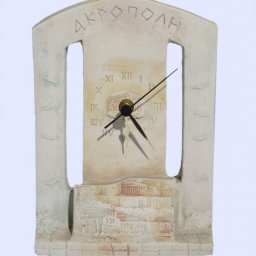 Plaster table - wall clock with the Acropolis of Athens 1
