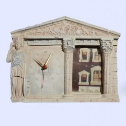 Greek picture frame and table clock with Athena goddess of wisdom  1