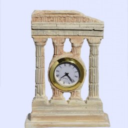 Plaster table clock with 4 doric columns 1