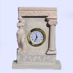 Plaster table clock with Aphrodite the ancient greek goddess of love and beauty 1