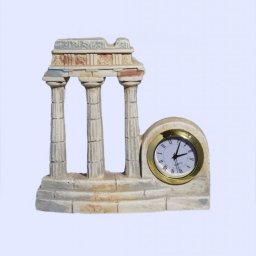 Plaster table clock with Tholos of Delphi 1