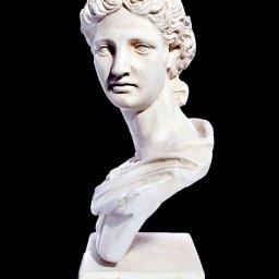 Apollo greek plaster roman bust statue 2