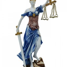 Themis, the greek goddess of justice, alabaster statue 1