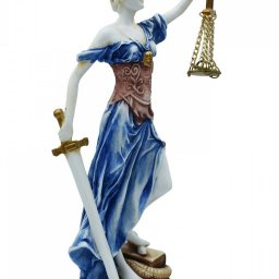 Themis, the greek goddess of justice, alabaster statue 2