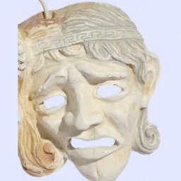 Comedy and drama greek plaster mask statue 3