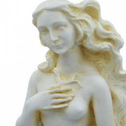 Aphrodite on a shell, Birth of Venus, Greek alabaster statue with color 4