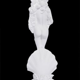 Aphrodite on a shell small greek alabaster statue 2