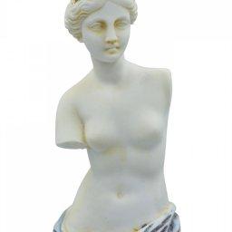Aphrodite of Milos (Venus de Milo) greek alabaster statue with purple color and golden details 2
