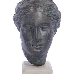 Hygieia (or Hygeia) green plaster bust statue 1