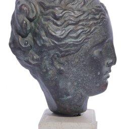 Hygieia (or Hygeia) green plaster bust statue 2