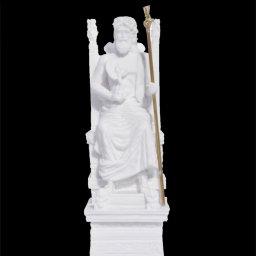 Zeus on throne greek alabaster statue 1