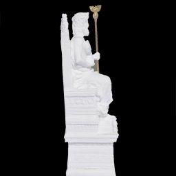 Zeus on throne greek alabaster statue 2