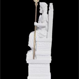 Zeus on throne greek alabaster statue 3
