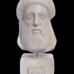 Zeus greek plaster bust statue 1