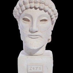 Greek plaster bust statue of Zeus  1