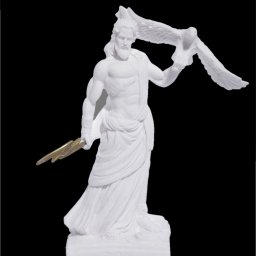 Zeus with eagle and thunder, greek alabaster statue 1