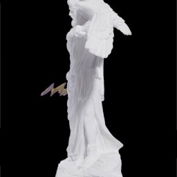 Zeus with eagle and thunder, greek alabaster statue 2