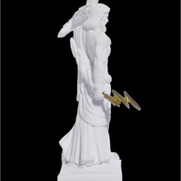 Zeus with eagle and thunder, greek alabaster statue 4