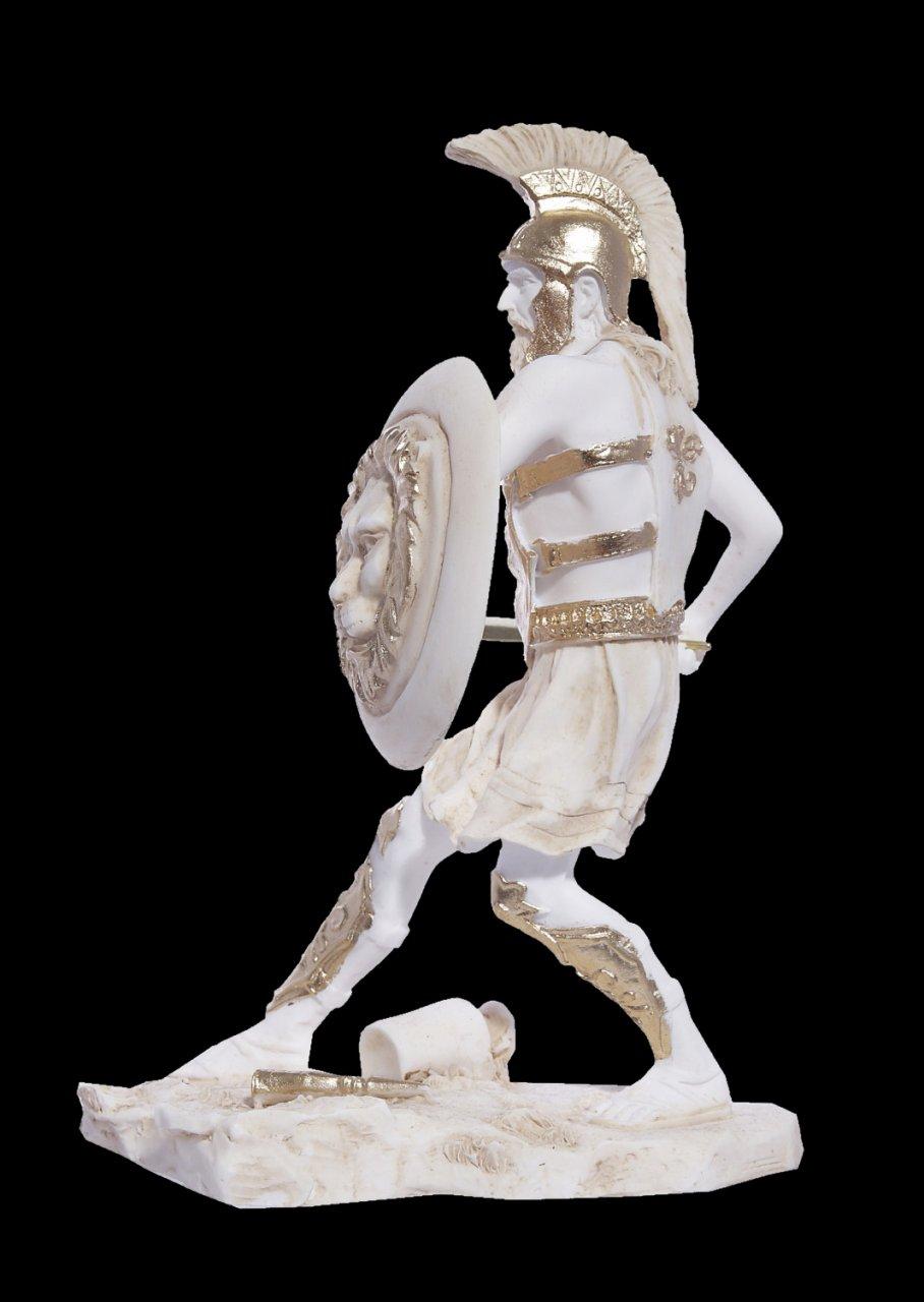 Warrior greek alabaster statue