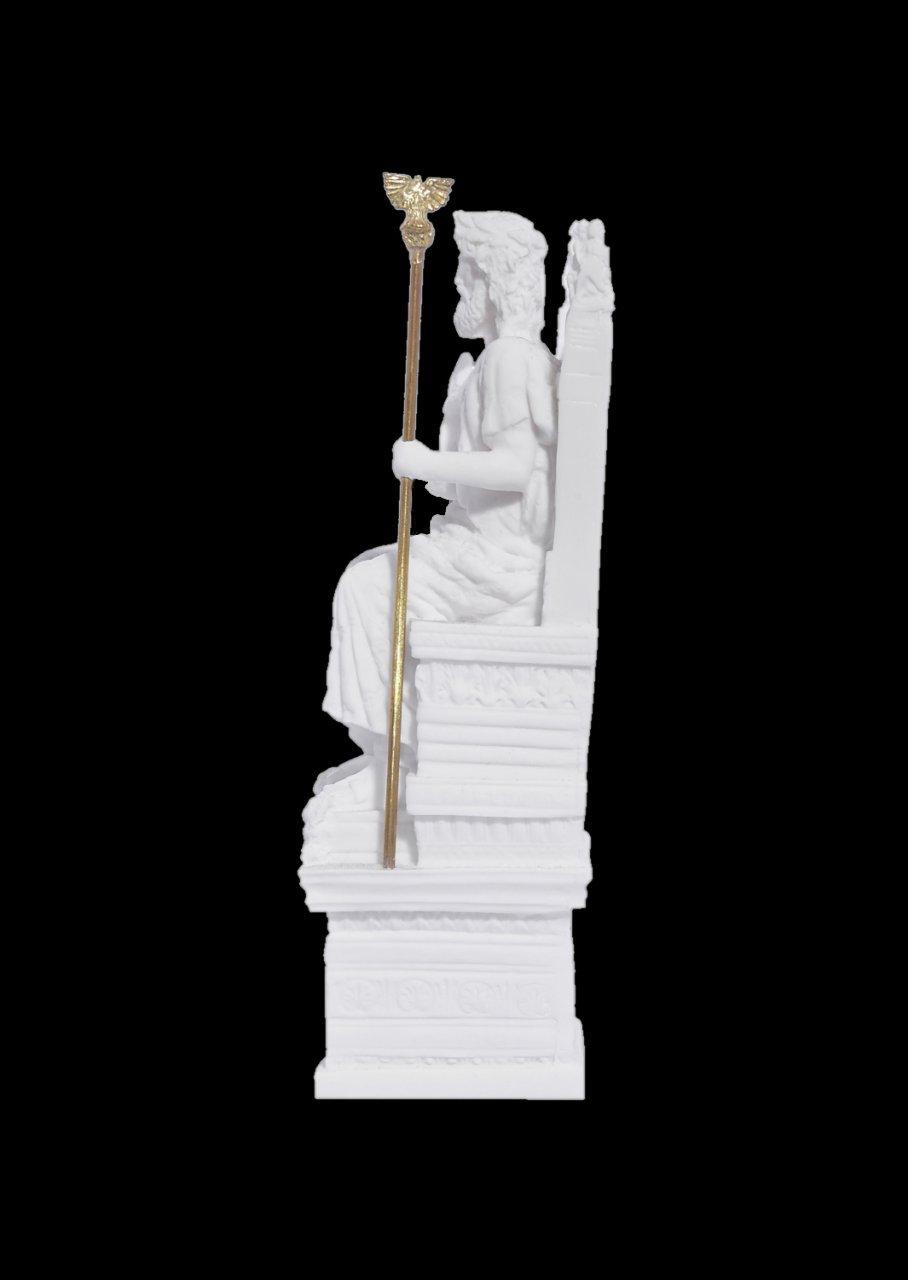 Zeus on throne greek alabaster statue