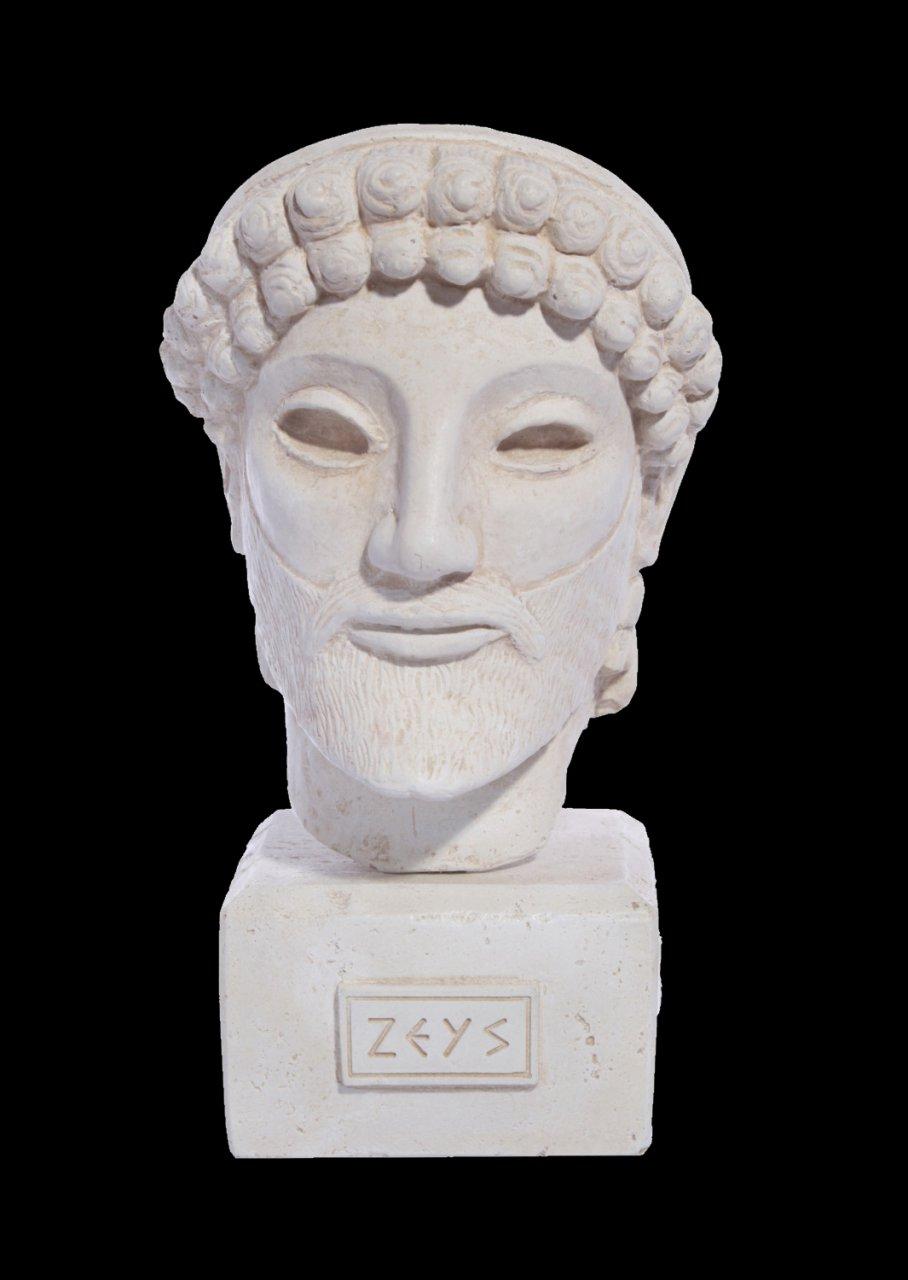 Zeus greek plaster bust statue