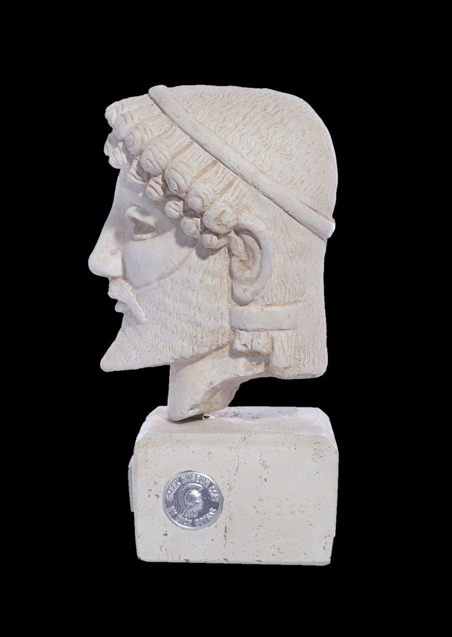 Greek plaster bust statue of Zeus